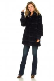 Patrizia Pepe |  Faux fur coat Jeanette | blue  | Picture 3