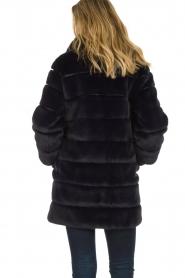 Patrizia Pepe |  Faux fur coat Jeanette | blue  | Picture 5