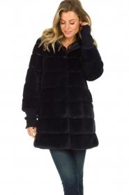 Patrizia Pepe |  Faux fur coat Jeanette | blue  | Picture 4