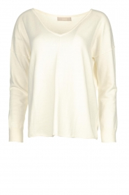 Blaumax |  V-neck sweater Fria | natural  | Picture 1
