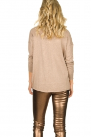Blaumax |  V-neck sweater Fria | beige  | Picture 5