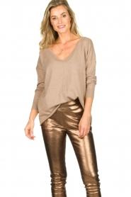 Blaumax |  V-neck sweater Fria | beige  | Picture 2