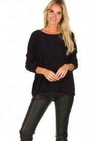 Blaumax |  Lightweight sweater Rea | black  | Picture 4