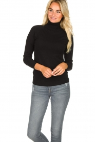 Blaumax |  Basic turtleneck sweater Nova | black  | Picture 2