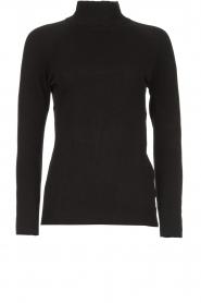 Blaumax |  Basic turtleneck sweater Nova | black  | Picture 1