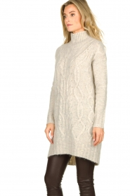Blaumax |  Tunic cable sweater Anne | beige  | Picture 4
