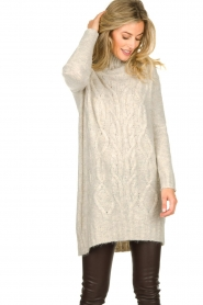 Blaumax |  Tunic cable sweater Anne | beige  | Picture 2