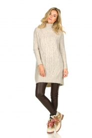 Blaumax |  Tunic cable sweater Anne | beige  | Picture 3