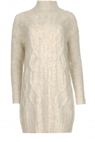 Blaumax |  Tunic cable sweater Anne | beige  | Picture 1