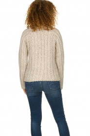 Blaumax |  Turtle neck sweater with cable knit pattern Tia | beige  | Picture 5