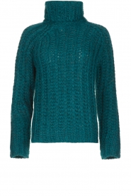 Blaumax |  Cable sweater Tia | blue  | Picture 1