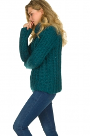 Blaumax |  Cable sweater Tia | blue  | Picture 6