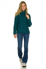 Blaumax |  Cable sweater Tia | blue  | Picture 3