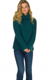 Blaumax |  Cable sweater Tia | blue  | Picture 4
