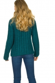 Blaumax |  Cable sweater Tia | blue  | Picture 7
