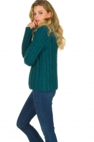 Blaumax |  Cable sweater Tia | blue  | Picture 5