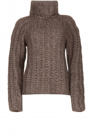 Blaumax |  Cable sweater Tia | brown  | Picture 1