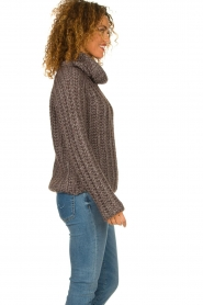 Blaumax |  Cable sweater Tia | brown  | Picture 5