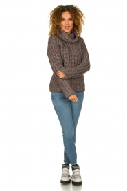 Blaumax |  Cable sweater Tia | brown  | Picture 3