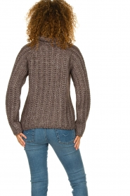 Blaumax |  Cable sweater Tia | brown  | Picture 6