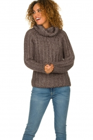 Blaumax |  Cable sweater Tia | brown  | Picture 4
