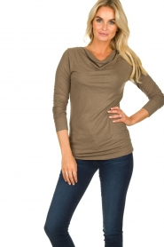 Blaumax |  Sweater with waterfall neckline Piper | brown  | Picture 2