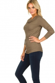 Blaumax |  Sweater with waterfall neckline Piper | brown  | Picture 3