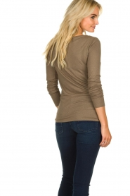 Blaumax |  Sweater with waterfall neckline Piper | brown  | Picture 4