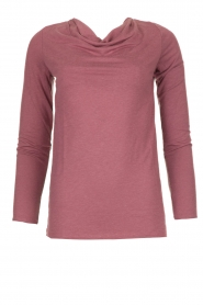 Blaumax |  Sweater with waterfall neckline Piper | old pink