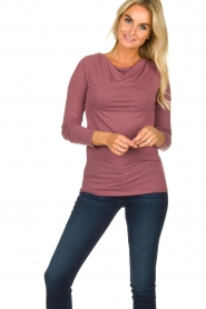 Blaumax    Sweater with waterfall neckline Piper   old pink    Picture 2