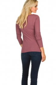 Blaumax |  Sweater with waterfall neckline Piper | old pink  | Picture 4