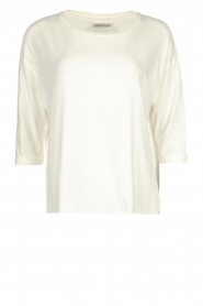 Blaumax |  T-shirt with rolled up sleeves Barbette | natural  | Picture 1
