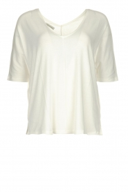 Blaumax |  V-neck Top Finez | natural  | Picture 1