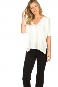 Blaumax |  V-neck Top Finez | natural  | Picture 2
