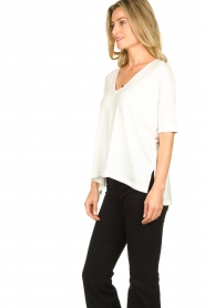 Blaumax |  V-neck Top Finez | natural  | Picture 4