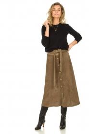 Blaumax |  Corduroy skirt Malea | beige  | Picture 4