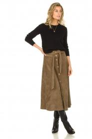 Blaumax |  Corduroy skirt Malea | beige  | Picture 2
