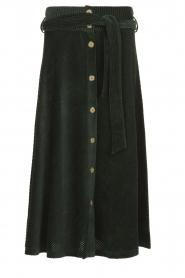 Blaumax |  Corduroy skirt | green  | Picture 1