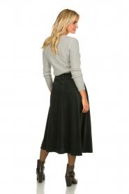 Blaumax |  Corduroy skirt | green  | Picture 5