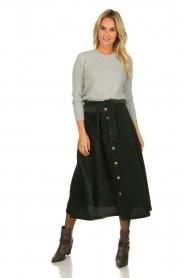 Blaumax |  Corduroy skirt | green  | Picture 2