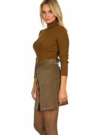 Blaumax |  Corduroy skirt Dina | beige  | Picture 4