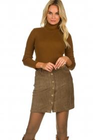 Blaumax |  Corduroy skirt Dina | beige  | Picture 2