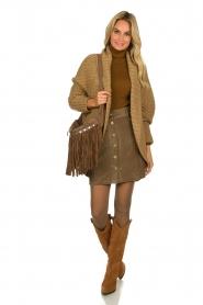 Blaumax |  Corduroy skirt Dina | beige  | Picture 3