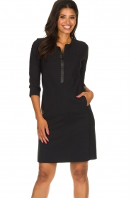D-ETOILES CASIOPE |  Wrinkle-free stretch dress Soledad | black  | Picture 2
