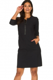 D-ETOILES CASIOPE |  Wrinkle-free stretch dress Soledad | black  | Picture 4