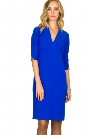 D-ETOILES CASIOPE |  Wrinkle-free stretch dress Soeur | blue  | Picture 2