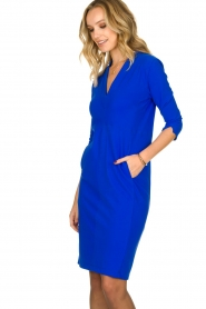 D-ETOILES CASIOPE |  Wrinkle-free stretch dress Soeur | blue  | Picture 4