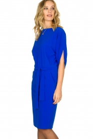 D-ETOILES CASIOPE |  Wrinkle-free stretch dress Sucre | blue  | Picture 4