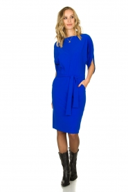 D-ETOILES CASIOPE |  Wrinkle-free stretch dress Sucre | blue  | Picture 3