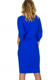 D-ETOILES CASIOPE |  Wrinkle-free stretch dress Sucre | blue  | Picture 5